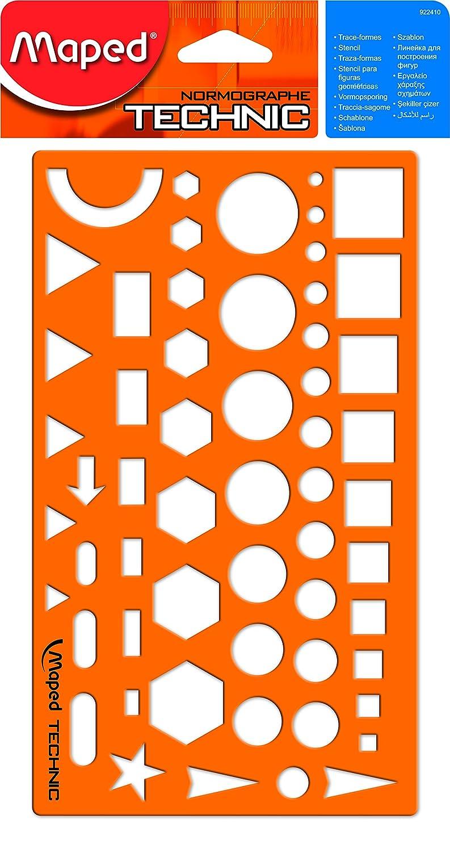 Maped m922410 della geometria Stencil, nomog ramm Technic, 1 pezzi 1pezzi