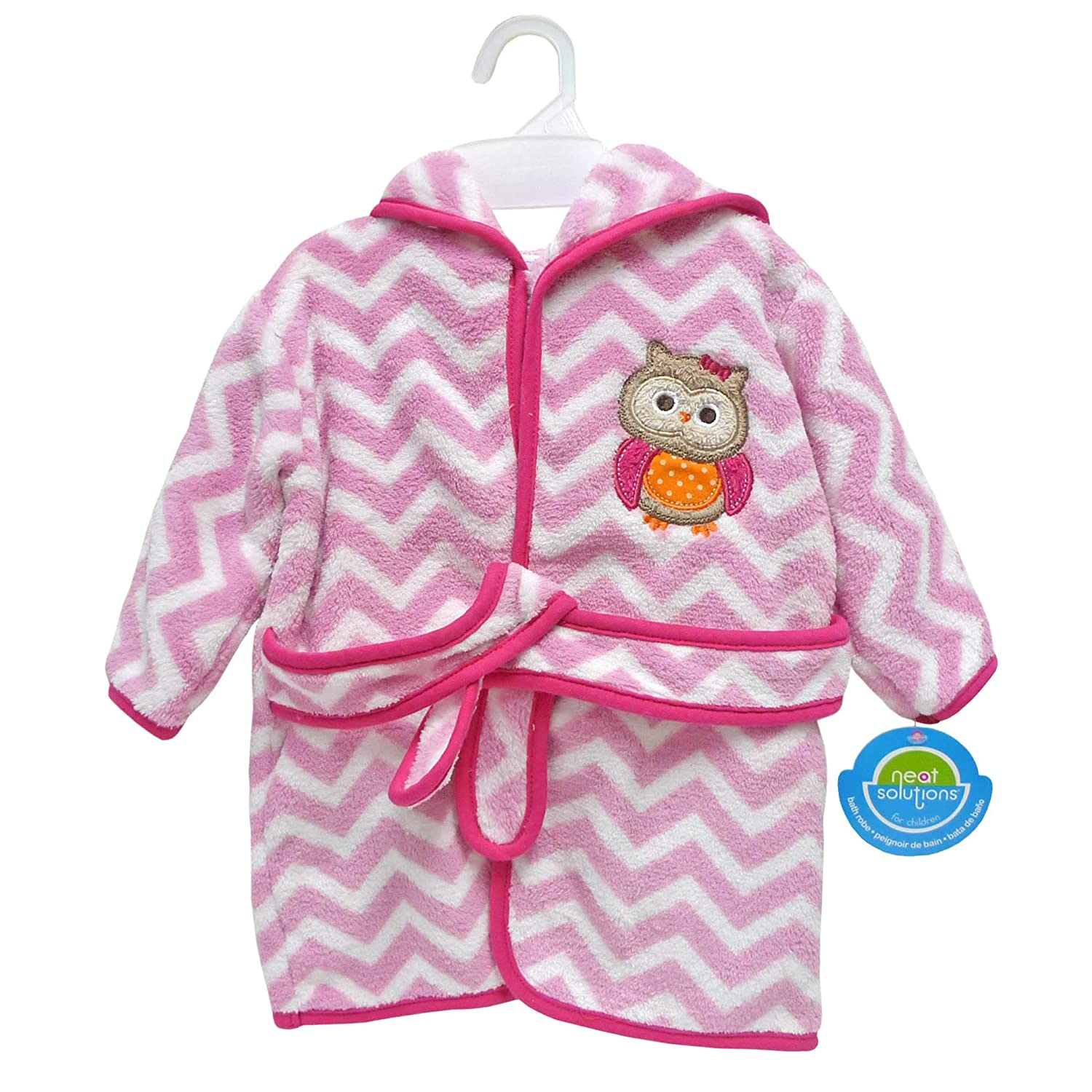 0-9 Months Neat Solutions Extra Soft /& Warm Hooded Baby Bathrobe Curious Owl