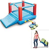 Little Tikes Pack 'N Roll Inflatable Bounce House with Wheeled Carry case