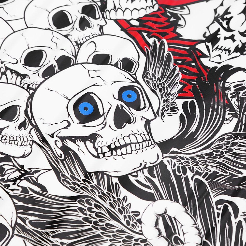 50 150cm Car Cartoon Sticker Decals Auto Car Cartoon Skull Graffiti Bomb Sticker Wrap Sheet Roll Decals Film Keenso