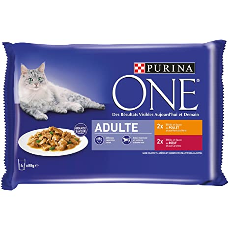 Purina One - Paquetes de frescura para gatos adultos, Paquete de ...