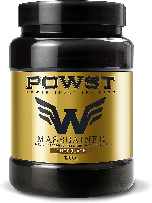 Estimulador Muscular, Suplemento Deportivo para Aumento de Masa Muscular con BCAA aminoacidos, Vitaminas y Minerales, 1,2Kg (Sabor Chocolate) Ganador ...