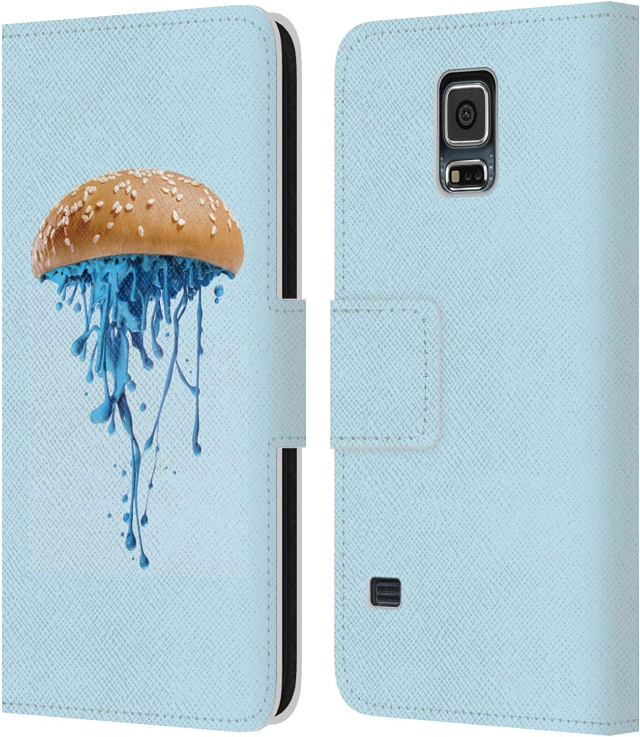 Head Case Designs Officially Licensed Paul Fuentes Jelly Burger Junk Food Leather Book Wallet Case Cover Compatible with Samsung Galaxy S5 / S5 Neo