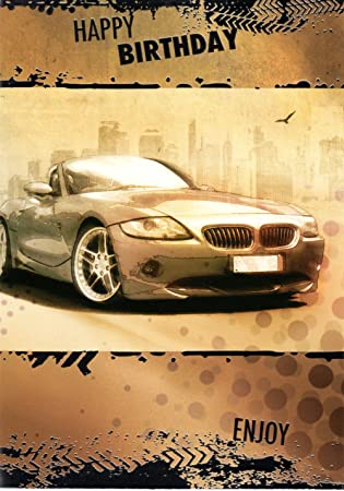 Bmw style sports car happy birthday greeting card amazon bmw style sports car happy birthday greeting card bookmarktalkfo
