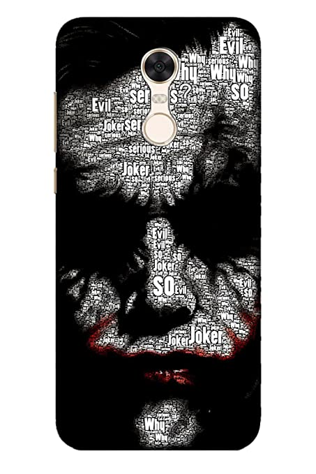 low priced d86cb edac4 AMAN Joker 3D Back Cover For Xiaomi Redmi Note 5: Amazon.in: Electronics