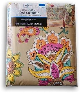 Summer Indian Elephant Rectangular Vinyl Tablecloth (60 X 102)