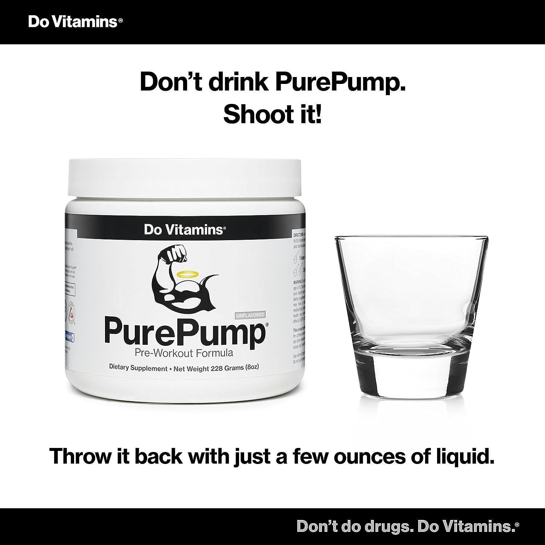 Amazon Do Vitamins PurePump Natural Pre Workout Supplement