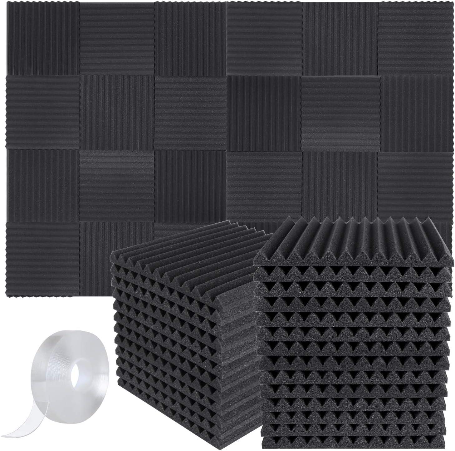 20Pcs Studio Treatment Acoustic Foam Tiles Sound Proofing Wedge Panel 50x50x5cm