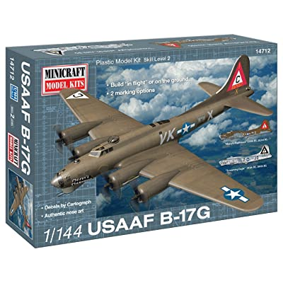 Minicraft B-17G USAAF Mercy's Madhouse Model Kit (1/144 Scale): Toys & Games