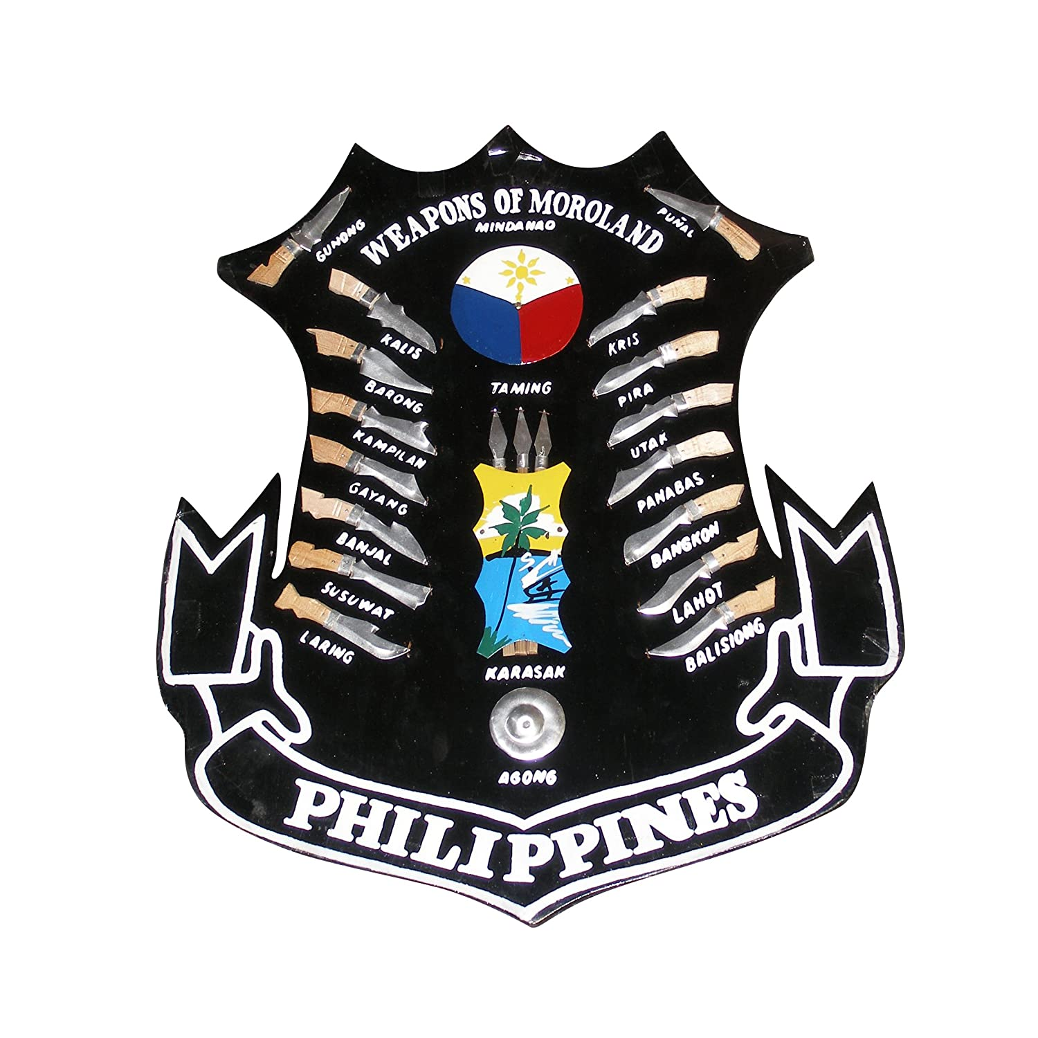 Amazon filipino plaque martial arts weapons of philippines amazon filipino plaque martial arts weapons of philippines moroland mindanao large 15 x 13 sports outdoors biocorpaavc