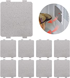 12 Pieces Waveguide Cover Universal Mica Plates Sheets for Microwave Oven Repairing Replacement Part Thick Heat Insulation Accessories, Cut to Size, 108 mm x 99 mm