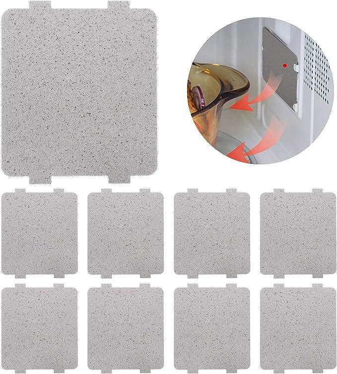 Placa de mica para horno de microondas Accesorio de reparaci/ón de reemplazo de l/ámina de placa de mica para horno de microondas de 5 piezas