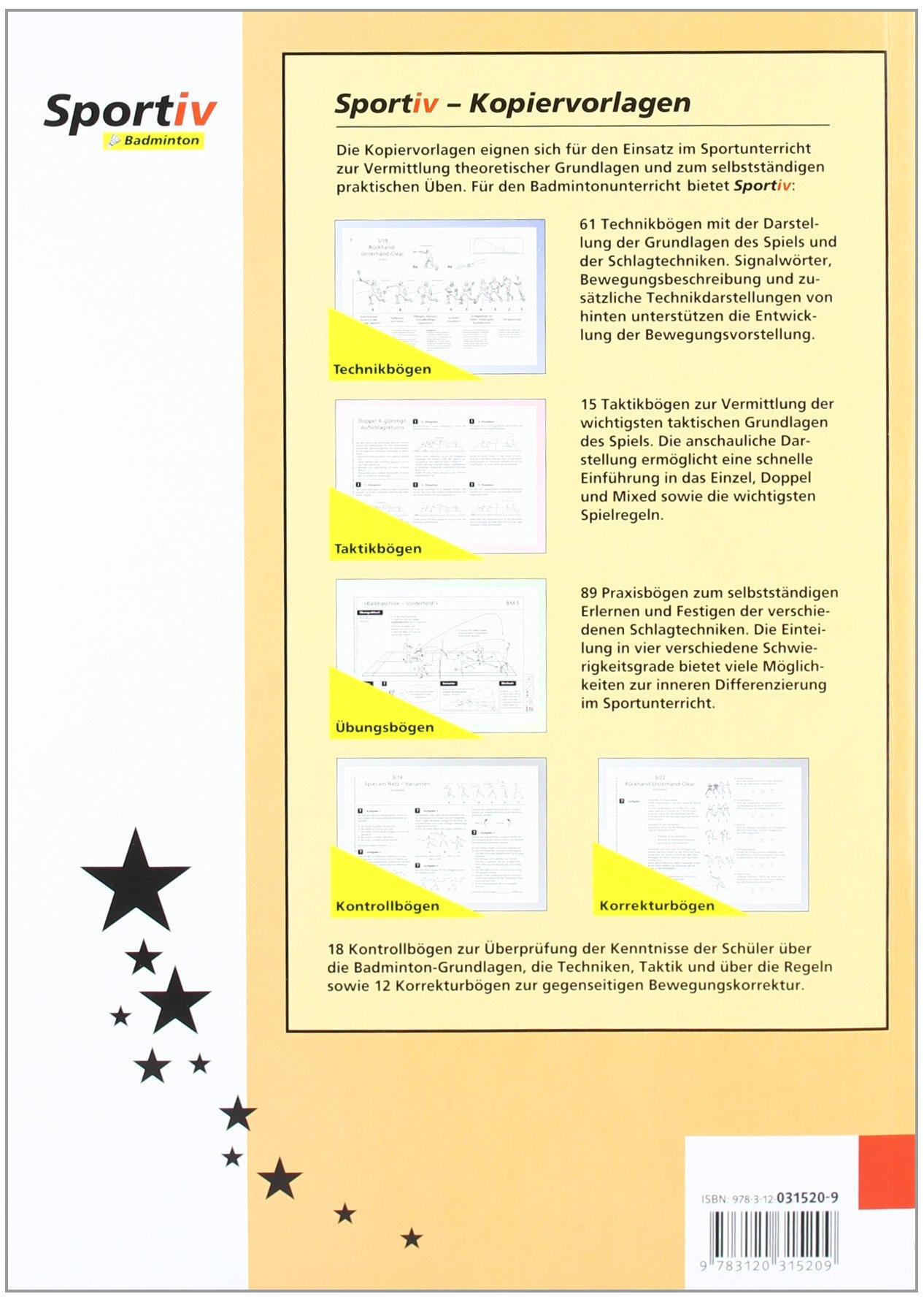 Sportiv: Badminton. Kopiervorlagen für den Badmintonunterricht. (Lernmaterialien) by Klett