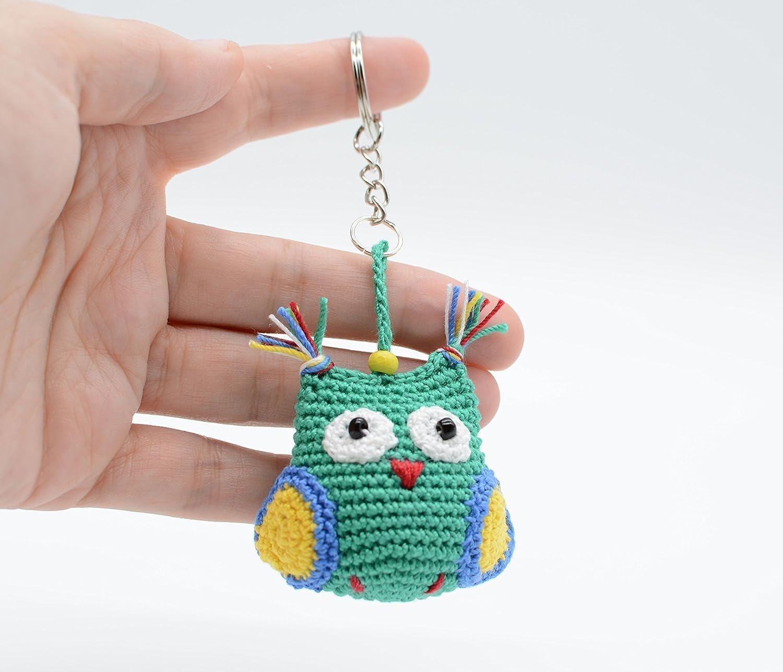 crochet pattern key chain owl | 1287x1500