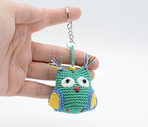 Llavero búho, accesorios del bolso, regalo verde en ...