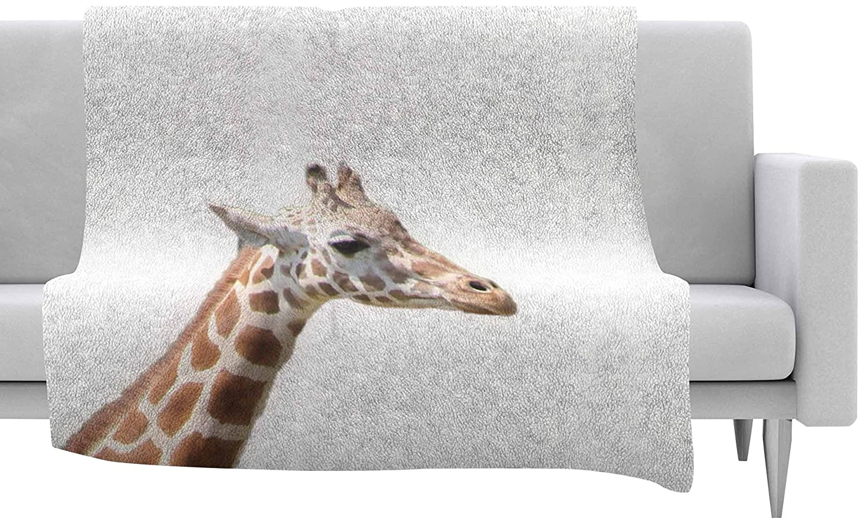 40 by 30-Inch 40 X 30 Kess InHouse Sylvia Coomes Giraffe Animals Photography Fleece Throw Blanket