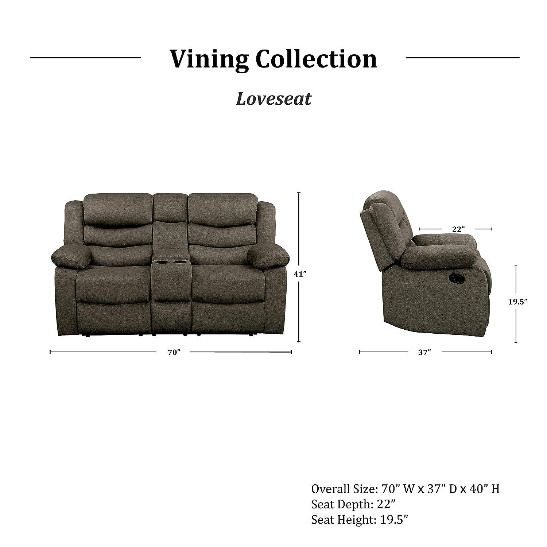 Amazon.com: Homelegance Vining - Juego de 3 sofás ...