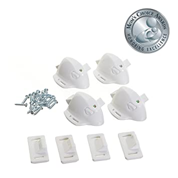 Amazon.com : Dreambaby Adhesive Magnetic Cabinet Locks - 4 Locks ...