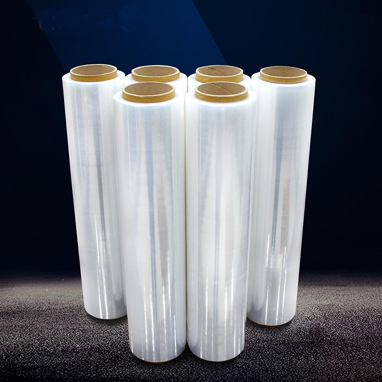Savingplus 6/x Strong rotoli Clear pallet termoretraibile elasticizzata cast di imballaggio pacchi pellicola trasparente bianco