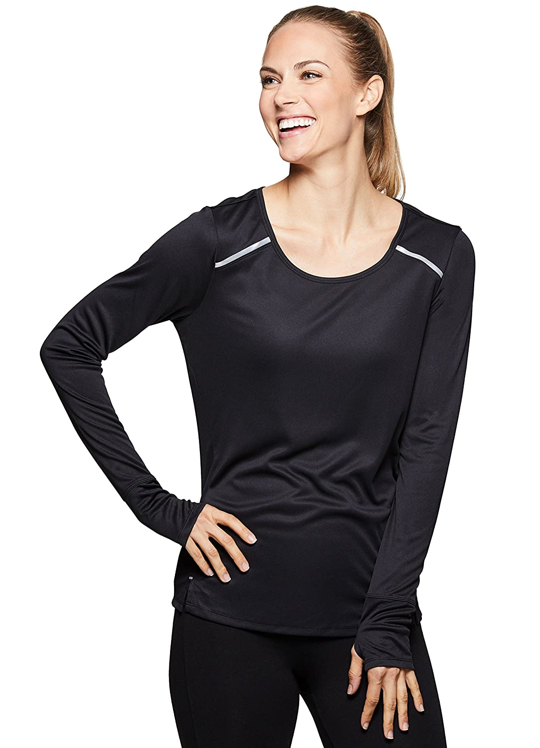 b08f80cc63146 Amazon.com  RBX Active Women s Long Sleeve Ventilated Workout Tee Shirt   Clothing