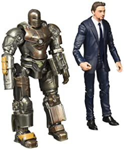 Marvel Studios Legends Series Hasbro Tony Stark & Iron Man Mark 1 2-Pack Action Figures.