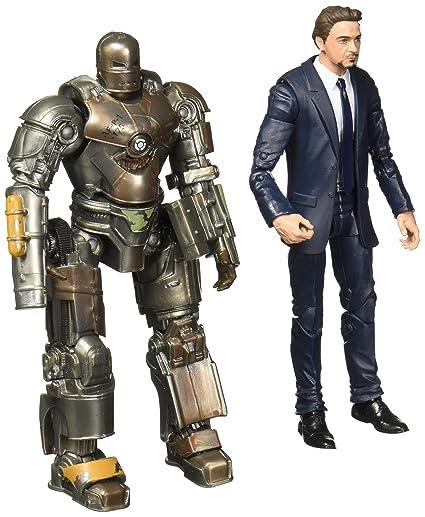 Marvel Studios Legends Series Hasbro Tony Stark & Iron Man Mark 1 2-Pack Action Figures.