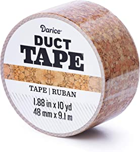 Darice Patterned Cork, 1.88 Inches x 10 Yards Duct Tape, Multicolor