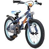 BIKESTAR Premium Sicherheits Kinderfahrrad 16 Zoll für Mädchen und Jungen ab 4-5 Jahre ★ 16er Kinderrad Mountainbike ★ Fahrrad für Kinder