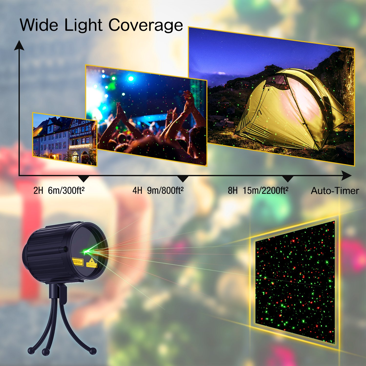 Christmas Lights Projector, Laser projector