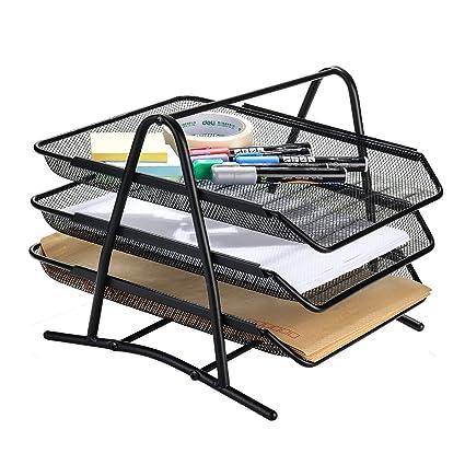 desk office file document paper. Mesh Desk Organizer, AGPtEK 3 Tier Letter Tray Organizer Office Desktop Document Paper File Storage