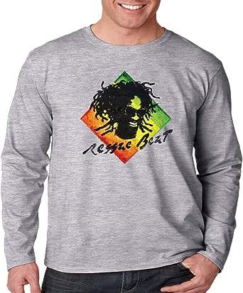 Camisa de Manga Larga Rasta Reggae Beats: Amazon.es: Ropa