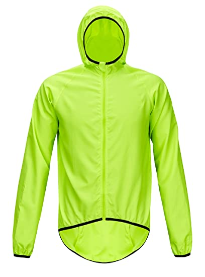 9a47e4c40 ZITY Mens Performance Printed Activewear Jacket Cycling Windproof Coat  Green US XS Label M