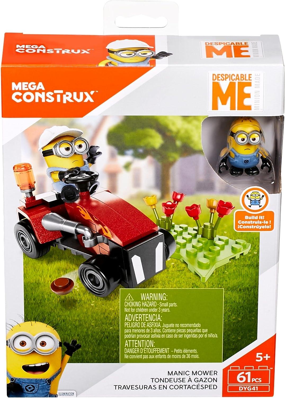 Mega Bloks Boys Construx Despicable Me Manic Mower Building Set (61 Piece)