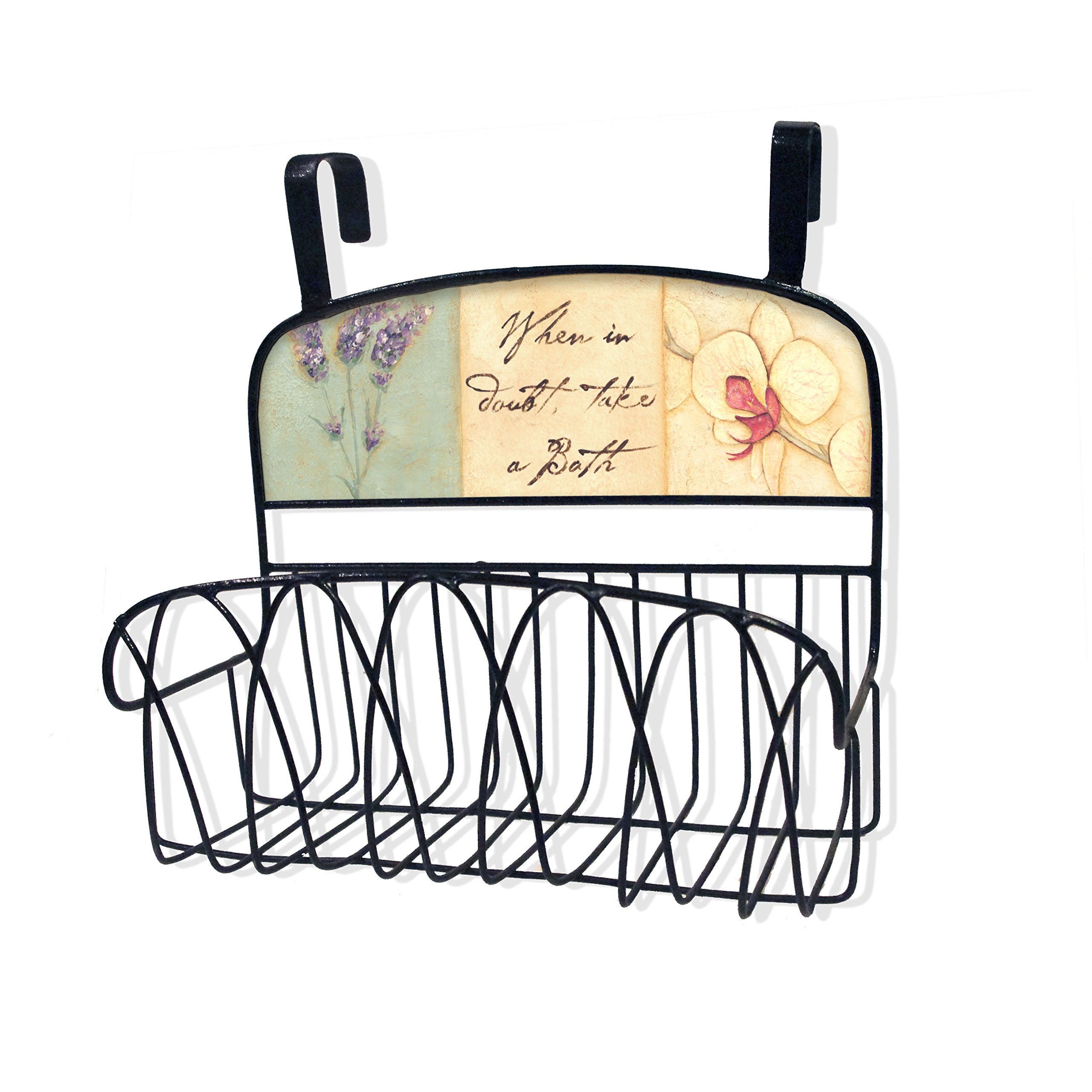 Stupell Home Décor When In Doubt Take A Bath Over The Door Organizer Basket, 11 x 11 x 6, Proudly Made in USA by The Stupell Home Decor Collection