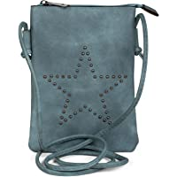 styleBREAKER Mini Sacoche avec découpes en Forme d'étoile, Sac en bandoulière, Sac à Main, Femmes 02012235