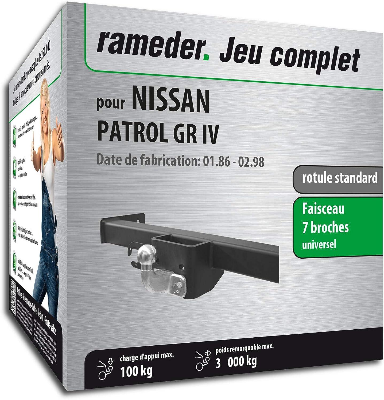 130117-03932-1-FR Rameder Pack attelage rotule Standard 2 Trous pour Nissan Patrol GR IV Faisceau /électrique 7 Broches