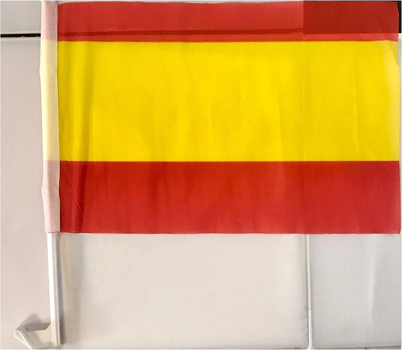 Auto bandera España sin escudo aprox. 30 x 45 cm Con Varilla de fijación: Amazon.es: Coche y moto