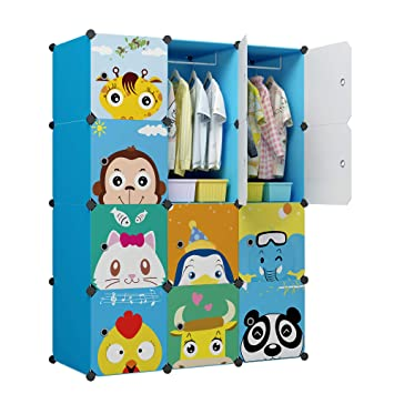 Amazon.com: KOUSI Armario portátil para niños BFYG-A: Home ...