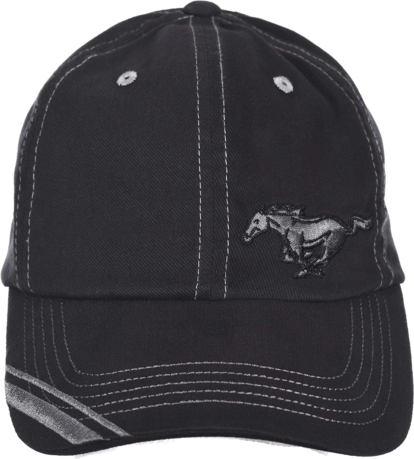 Checkered Flag Mens Ford Mustang Logo Cap Adjustable Red /& Black Hat
