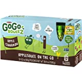 GoGo squeeZ Applesauce On The Go, Apple Cinnamon, 3.2 Ounce Pouches, 12 Count