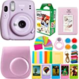Fujifilm Instax Mini 11 Camera with Instant Film (20 Sheets) & DNO Accessories Bundle Includes Case, Filters, Album…