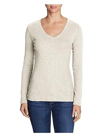 c391ef1d02578 Eddie Bauer Women s Favorite Long-Sleeve V-Neck T-Shirt at Amazon ...