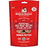 Stella & Chewy's Freeze-Dried Raw Remarkable Red Meat (Beef, Goat & Lamb) Recipe Dinner Patties Dog Food, 5.5 oz. Bag