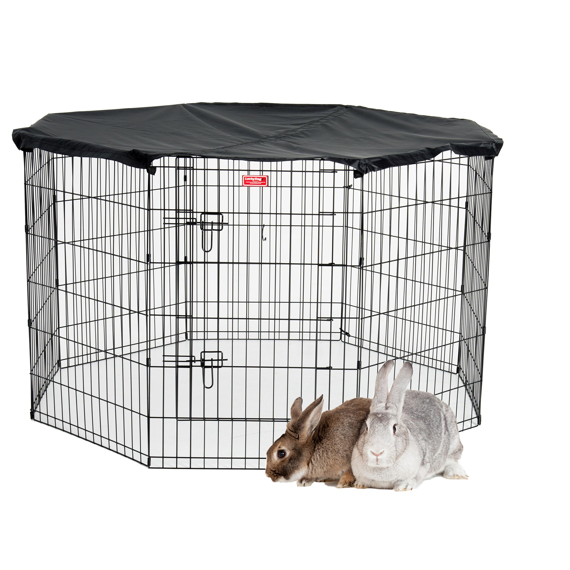 Lucky Dog Pet Exercise Pen with Cover, 36'' x 6'