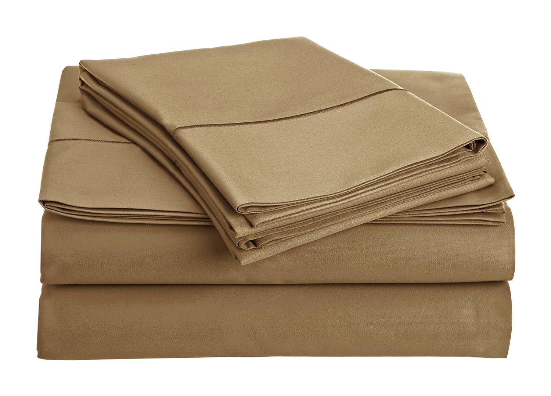 100 B01MXBOBN4 Addyホーム4 Piece %エジプト綿シートセット、カリフォルニアキング、小麦 t800