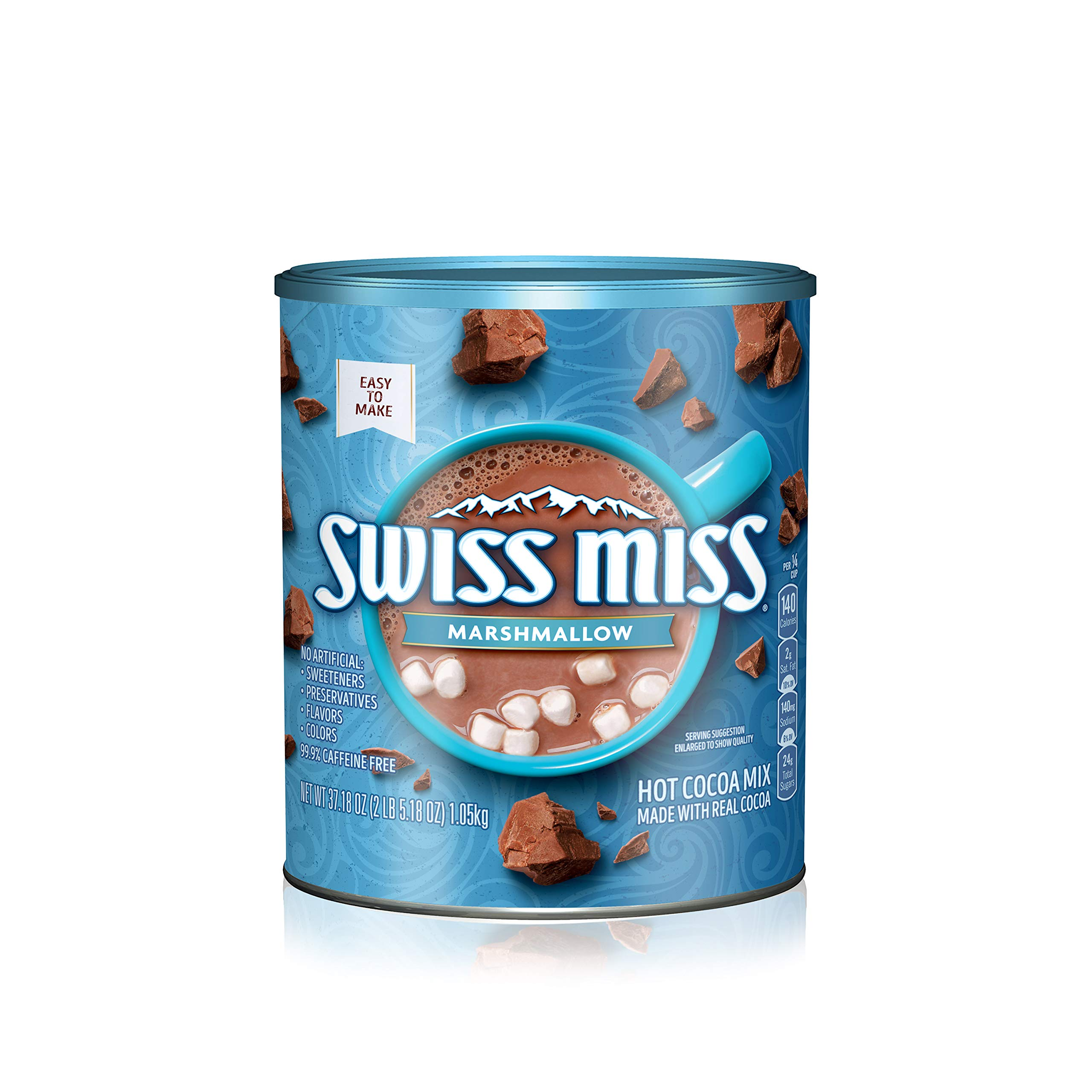 Swiss Miss Marshmallow Hot Cocoa Mix, 37.18 Ounce Canister