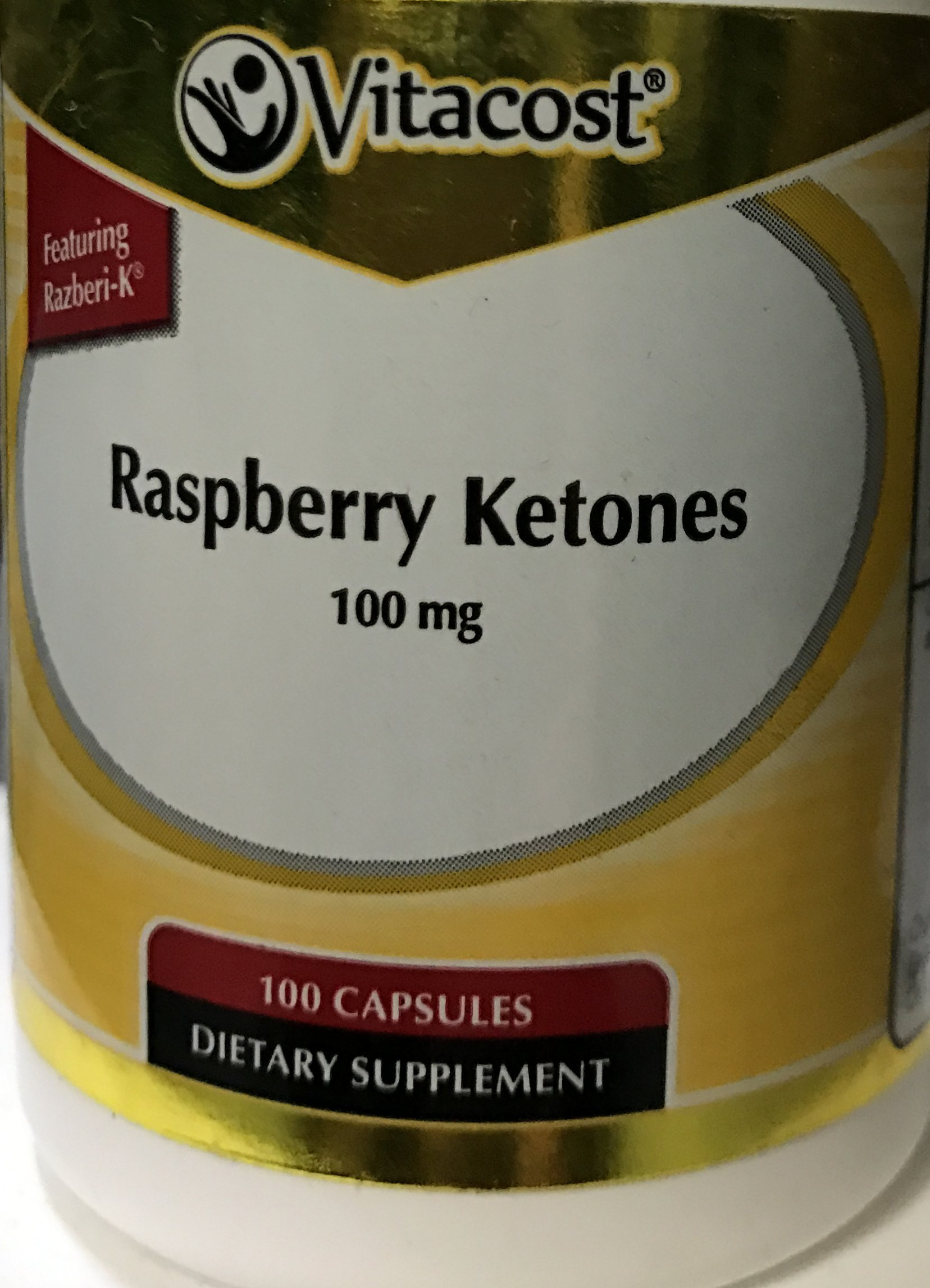 Vitacost Raspberry Ketones Featuring Razberi-K -- 100 mg - 100 Capsules