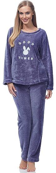 Pdgt7116 Donna Pigiama Amazon Abbigliamento Felpato it amp;l L qw7RTT