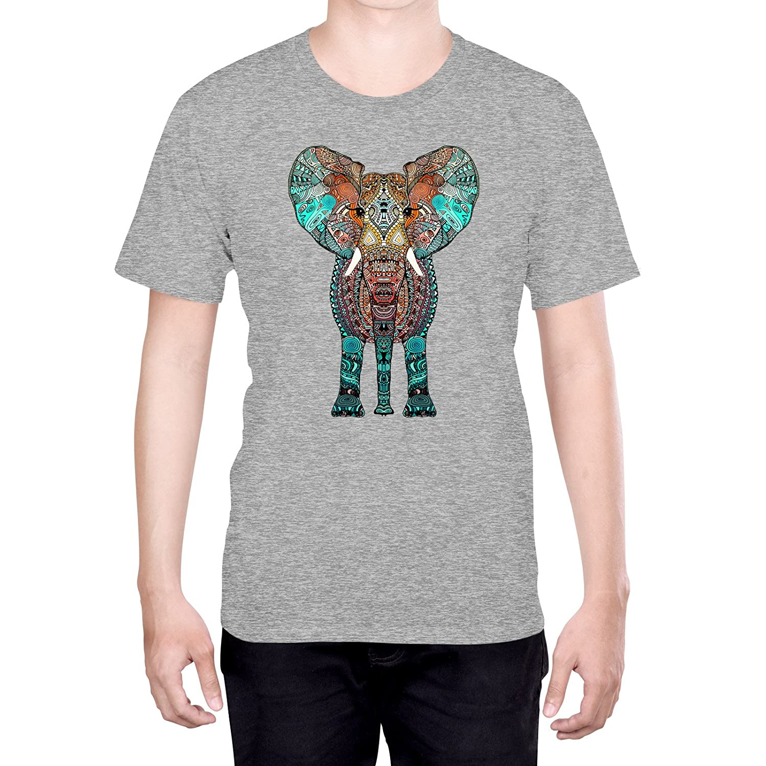 Official Monika Strigel Aztec Elephant Art S - Small Black T-Shirt for Men