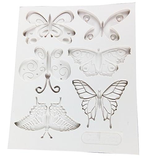 Vivin formado mariposa del molde del silicón de la estera por Decoración de Pasteles, magdalenas